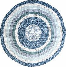 Sebra Teppich Gehäkelt 120 Dove Blue Melange (Ø)