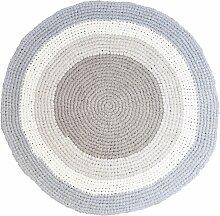 Sebra Teppich Gehäkelt 120 Feather Beige (Ø)