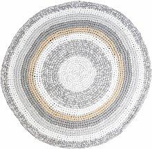 Sebra Teppich Gehäkelt 120 Feather Beige Melange