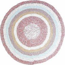Sebra Teppich Gehäkelt 120 Powder Rose Melange
