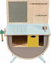 Sebra Werkbank für Kinder aus Holz in warmen grau