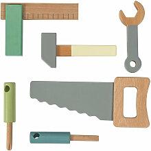 Sebra Werkzeugset aus Holz für Kinder, 6-teilig (ab 3 Jahren)