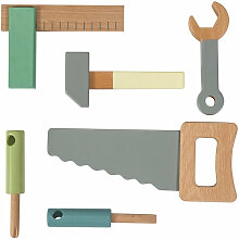 Sebra Werkzeugset aus Holz für Kinder, 6-teilig