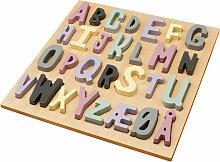 Sebra - Wooden Puzzle ABC (dänisch), rosa
