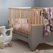 Sebra - Yomi Babybett, earth brown / Buche
