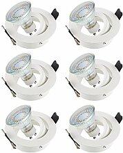 SEBSON® 6er-Pack Einbaustrahler inkl. GU10 LED