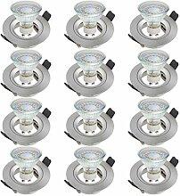 SEBSON® Einbauleuchte inkl. GU10 LED 3,5W 300lm