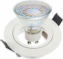 SEBSON® Einbaustrahler inkl. GU10 LED 3,5W 300lm