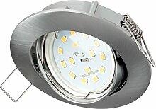 SEBSON Einbaustrahler rund schwenkbar inkl. LED
