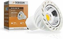 Sebson GU10 LED 7 W COB Lampe - 50 W Halogen - 540 Lumen - Spot 36 Grad - 230 V, warmweiß GU10_COB_7W