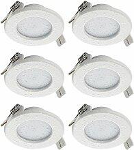 SEBSON® LED Einbaustrahler 230V flach, Badezimmer