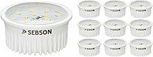 SEBSON® LED Modul 5W ultra flach ø50x26mm für