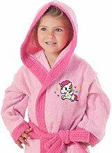 SECANETA Kinder-Bademantel mit Kapuze und Taschen.