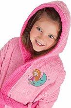 SECANETA Kinder-Bademantel mit Kapuze und Taschen,