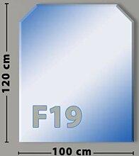 Sechseck F19 Funkenschutzplatte - Glasplatte aus