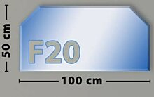 Sechseck F20 Funkenschutzplatte - Glasplatte aus
