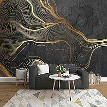 Sechseck Geometrisches Muster Abstrakte Goldene