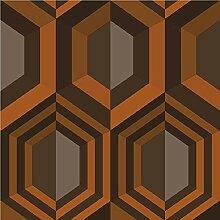 Sechseck Tapete Farbe: Orange