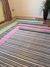 Second Nature Baumwolle Kelim Teppich in Licht