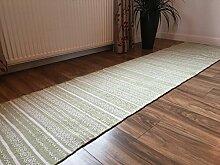 Second Nature Baumwolle Kelim Teppich in Sage
