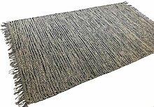 Second Nature Große graue Streifen zum Teppich