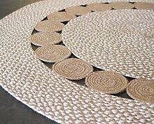 Second Nature Online runder Baumwollteppich mit