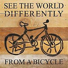 Second Nature von Hand Fahrrad Holz Schild, braun,