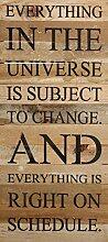 Second Nature von Hand Universe Holz Schild,