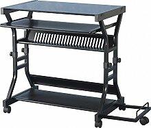 Seconique Cori Computer-Schreibtisch, schwarz Glas/schwarz