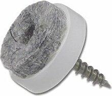 SECOTEC Gleitnagel Filz 20 mm | Schraubgleiter
