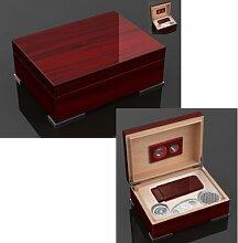 Secunda Luxus Humidor Geschenk Set Pianolack Wood