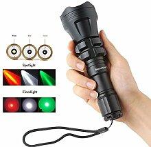 SecurityIng® Jagd-Taschenlampe XM-L2 U4 Rot /