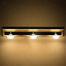 SED Bad Spiegel Lampen-Holz LED-Lampen