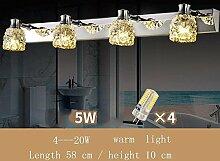 SED Badspiegel Lampen-Badezimmer Kristallspiegel