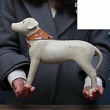 SED Dekorationen-American villageresin Hund