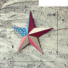 SED Dekorationen-Americantyle Sternflagge Metall