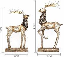 SED Dekorationen-Europäischen Harz Hirsch Tier
