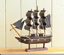 SED Dekorationen-Retro Eisen Segelschiff Modelle