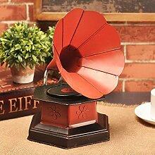 SED Dekorationen-Retro Grammophon alte Ornamente