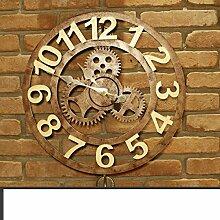 SED Dekorationen-Retro-Metall-Uhren Wanduhr