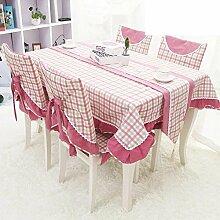 SED Tischdecke-Reine Baumwolle Leinwand Tuch