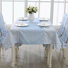 SED Tischdecke-Weiße Spitze Bestickt Tischdecke
