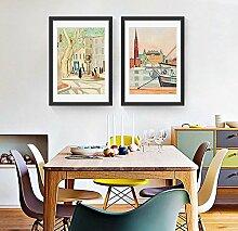 SED Wohnzimmer Dekorative Gemälde Einfache