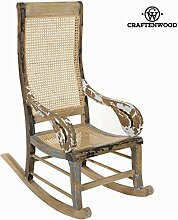 Sedia a dondolo decapato by Craften Wood (1000026862)
