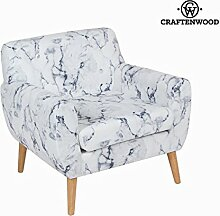 Sedia a sdraio con bracciolo marmoreo by Craften Wood (1000026870)