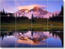 See Bild Badezimmer Fliesen Wand L026. 61x 81,3cm mit (12) 8x 8Keramik Fliesen.
