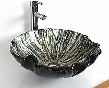 SEEKSUNG Waschbecken Blume Spüle Waschbecken aus
