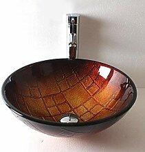 SEEKSUNG Waschbecken Moderne Badezimmer runden