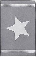 Seepferdchen Foot Handtuch, grau