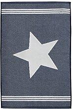 Seepferdchen Fuß Handtuch, blau